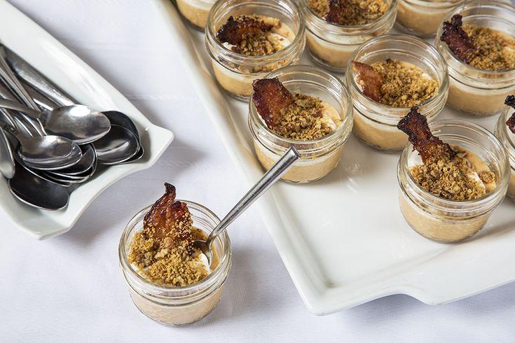 Verrines «sweet potato pie» et bacon bonbon à l'érable #recettesduqc #dessert #bacon