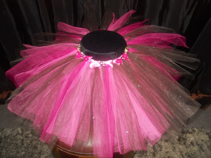 Handmade by Candy's Creations    Toddler Size Tutu - Average age 12+ months. Fits most.    Chocolate Brown, Bubble Gum Pink and Hot Pink Toddler Tutu with Baby Pink and Brown Satin Trim, Pink Polka Dot Bows with Rhinestones and Rhinestone accents throughout the tutu!    Price: $35  Shipping: Send message    http://www.facebook.com/CandysCoutureCanada