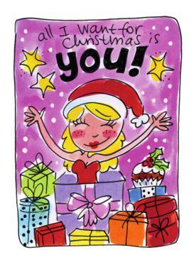 Vrouw springt uit een cadeau voor kerst- Greetz