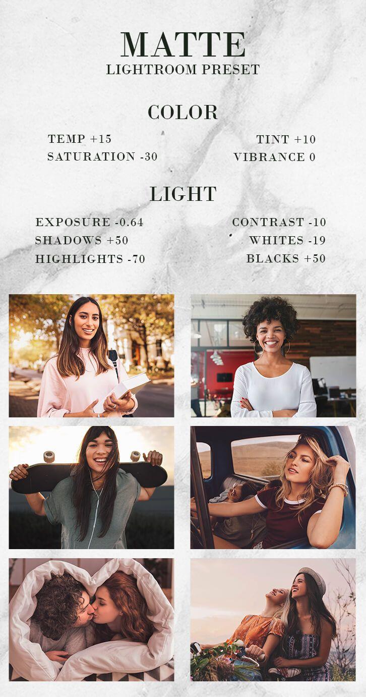 Lightroom matte presets