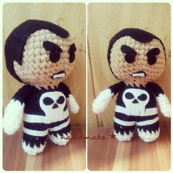 Punisher! ☆ #handmake #handmade #crochet #amigurumi #actionfigure #toy #punisher #marvel #marvelcomics #marveluniverce #comics #blackandwhite #fans #etsy #etsyfind #каратель #марвел #комиксы #фанат #игрушка #ручнаяработа #амигуруми