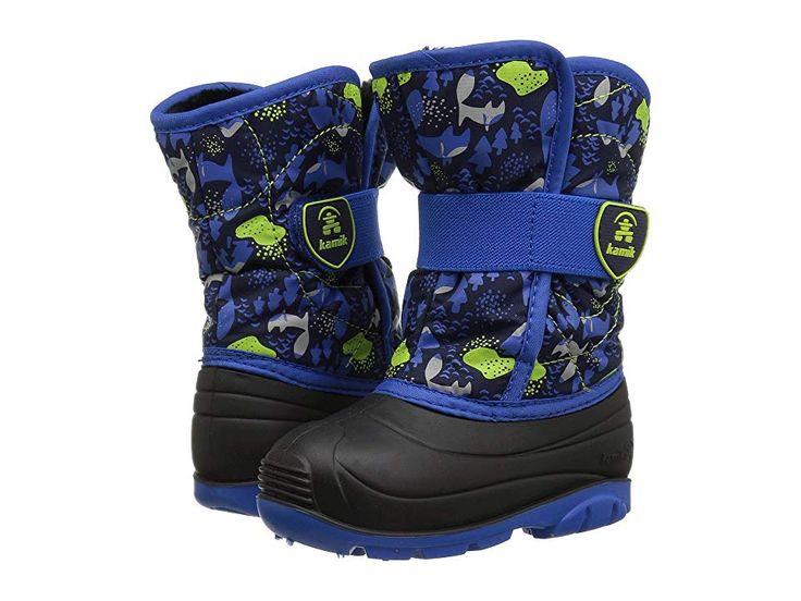 Kamik Kids Snowbug 4 (Toddler) Boys Shoes Navy/Blue