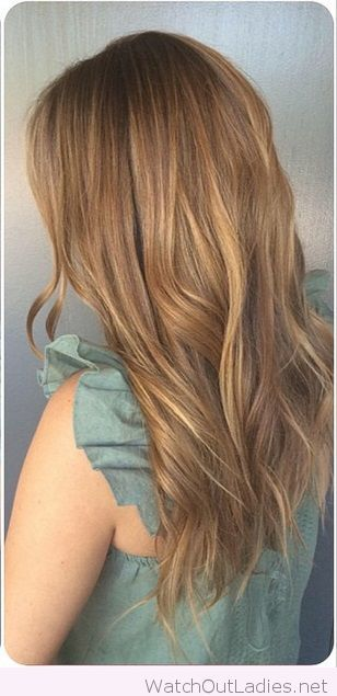 Very nice light golden brown hair color