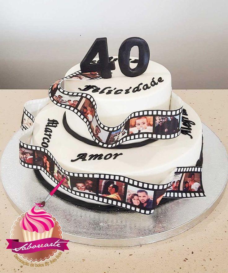 Bolo Película fotográfica Photografic film cake