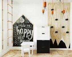 Dom I | Lębork - Mały pokój dziecka dla chłopca dla malucha, styl skandynawski - zdjęcie od kuldesign