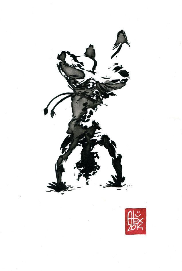Encres : Capoeira – 593 [ #capoeira #watercolor #illustration]