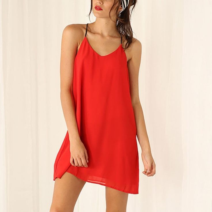 Sleeveless red dress - Si Joly