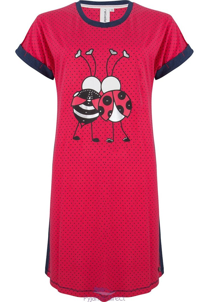 "Young & cute ""best ladybird friends"" red short sleeved dotty nightdress from Rebelle"