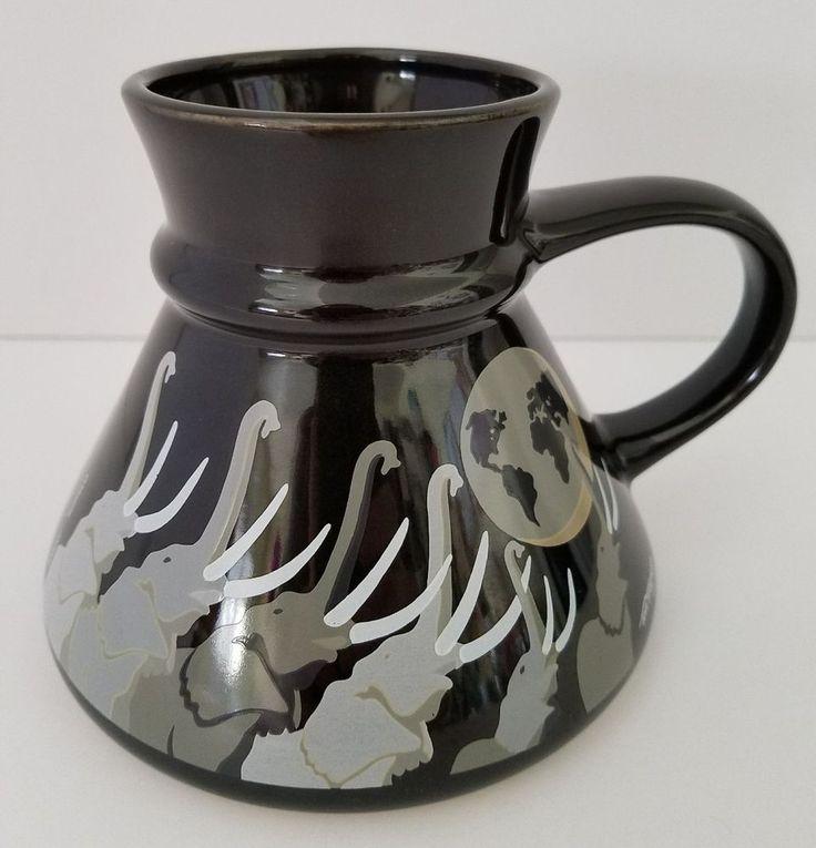 Otagiri Elephant Coffee Mug Tom Taylor Earth Trumpet No Spill Mariner Cup Japan  #Otagiri