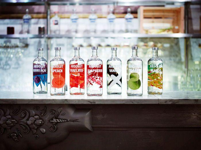 Absolut Vodka Revamps FlavorRange - The Dieline - #packaging