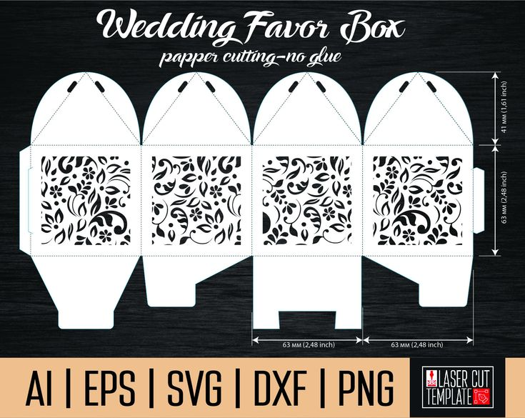 Excited to share the latest addition to my #etsy shop: Box template svg. Favor box template. Gift box svg. laser cut boxes. Paper cutting. Papercutting card. silhouette cameo http://etsy.me/2DrVqHm #materialy #svadba #densvatogovalentina #podelkidladetej #papercuttempl