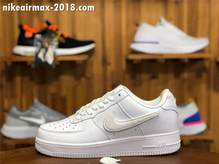 777f904f92f7 2018 Stylish Nike Air Force 1 Low Men And Women Size White AQ3621-111 Velcro