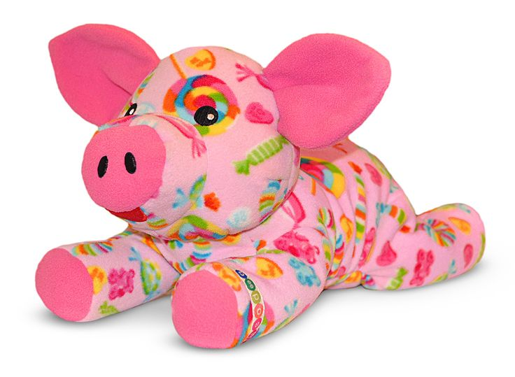 Beeposh Becky Pig is a sweet confection of a pig with her all-over candy print Her yummy personality will make you squeal with delight! Made of ultra-soft fleece Becky is ultra-cuddly from her pink sn