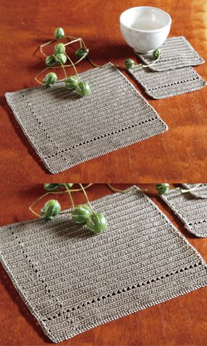 oooh... i love this!!  we need new placemats - i never thought of crocheting my own!!