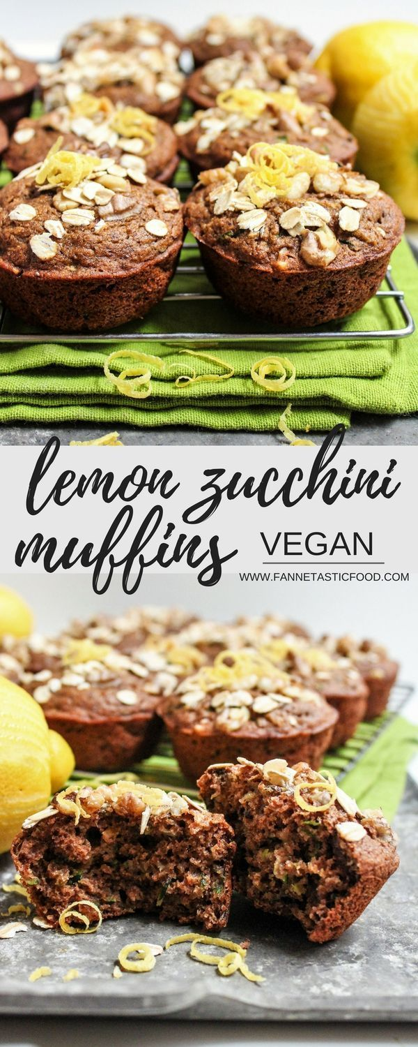 These Vegan Lemon Zucchini Muffins are moist, fluffy, whole wheat, and easy to make! What more could you want? | zucchini muffin recipe | healthy muffin recipe | vegan muffin recipe | healthy breakfast ideas |