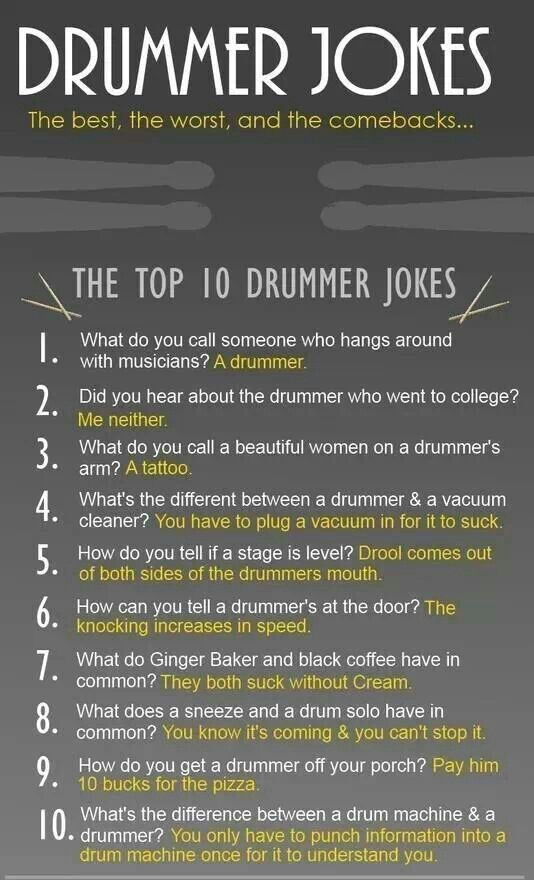So half of them are like calling drummers dum
