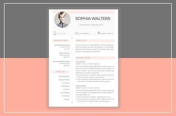 Resume Template & Cover Letter by ResumeStudio on @creativemarket Professional printable resume / cv cover letter template examples creative design and great covers, perfect in modern and stylish corporate business design. Modern, simple, clean, minimal and feminine style. Ready to print us letter and a4 layout inspiration to grab some ideas. In psd, indd, docs, ms word file format. #resume #cv #template #professional #word #modern #creative #design