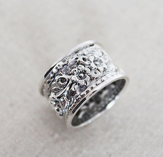 Unique Wedding Band  Sterling Silver Ring by karioi on Etsy, $165.00 http://etsy.com/shop/karioi