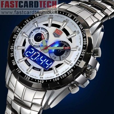 buy cheap Tvg 579 Male Dual Time LED Watch wholesale price