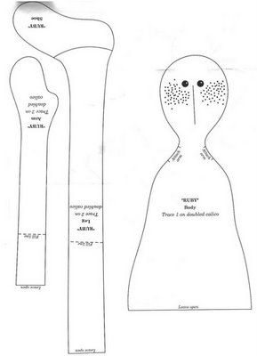 Free Extreme Primitive Doll Patterns | My toys: Primitive doll. The pattern.Кукла-примитив ...