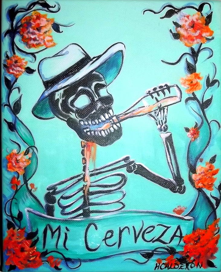 """Mi Cerveza""~Artwork by Heather Calderon, 2011"