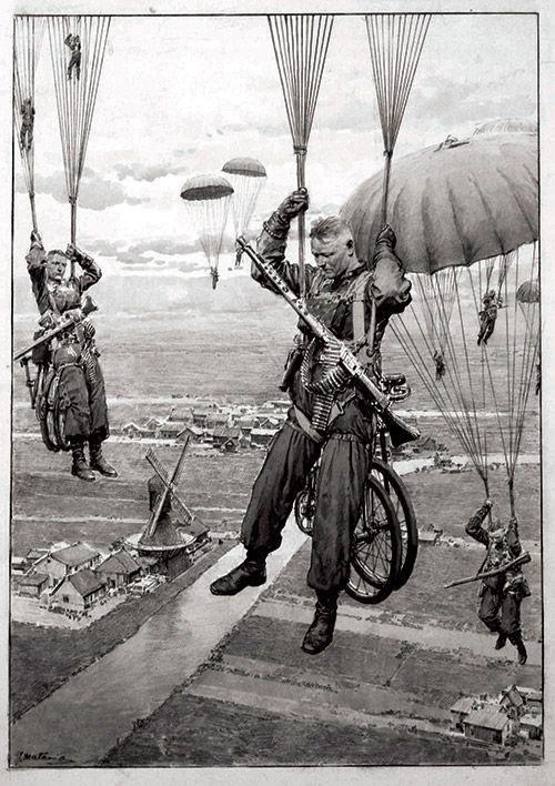 Fallschirmjägers en Holanda, 1940.: