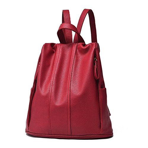New Trending Backpacks: Hynbase Womens Leather Schoolbag Backpack Shoulder Bag Wine Red. Hynbase Womens Leather Schoolbag Backpack Shoulder Bag Wine Red  Special Offer: $25.00  399 Reviews Department:Womens/ladies Marterial: PU Description:This Designer wonderful bag feature size and durable design.The zipper ensure the safety of the things in this bag.Which enable...