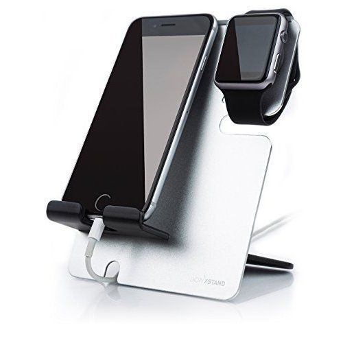 Apple Charging Charger Watch iPhone Holder Stand Dock Station iWatch Silver New #AppleChargingChargerWatchiPhoneHolder