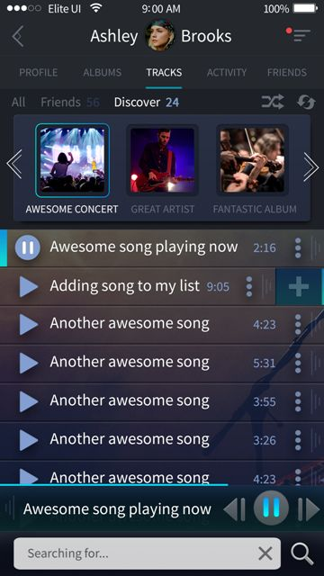 Beautiful discover screen for a music app. Visit our site for more awesome UI designs!