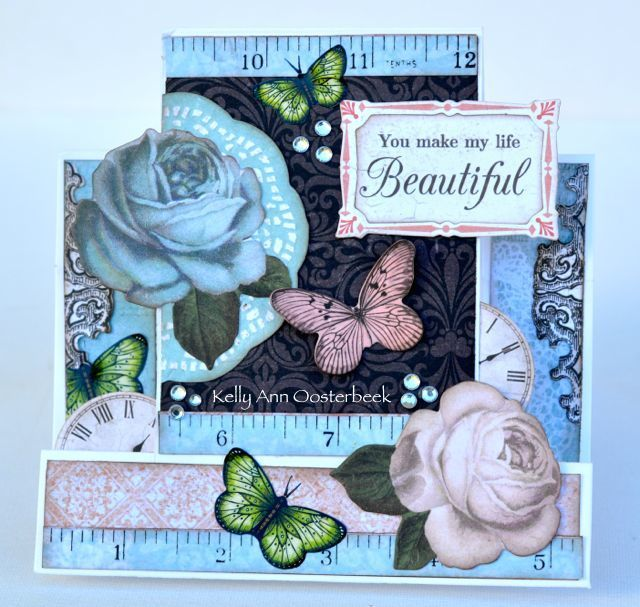 A step card by Kelly-ann Oosterbeek, made with the Ooh La La collection from Kaisercraft. www.kellyanno.com