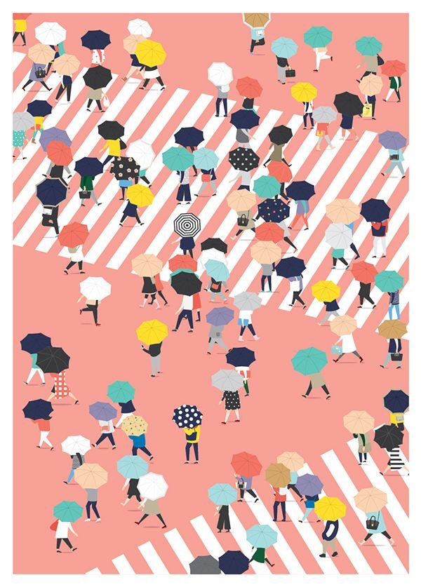 Decorative Crowds in Designs by Putri Febriana