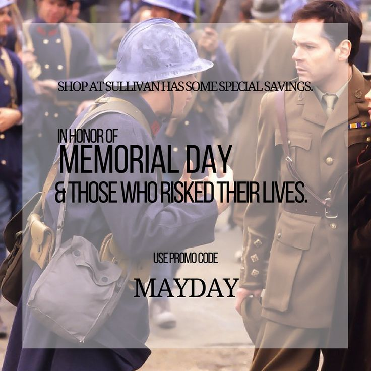 We're celebrating Memorial Day all week. We take this time to honor and remember those who risked their lives and hope you do as well. From now until May 29th, we'd like you to celebrate this important time with promo code MAYDAY. You can save an extra 20% off your purchase when you use this code at checkout. #shopatsullivan #sullivanentertainment #classics #anne #anneofgreengables #anneofavonlea #greengables #memorialday #memorialdayweekend #victoriaday #maytwofour #may24 #mayday…