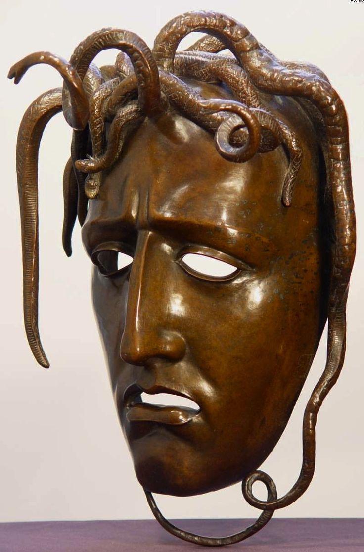 Adolfo Wildt (1868–1931) La Maschera della Medusa 1910 bronze