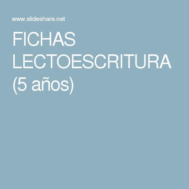FICHAS LECTOESCRITURA (5 años)