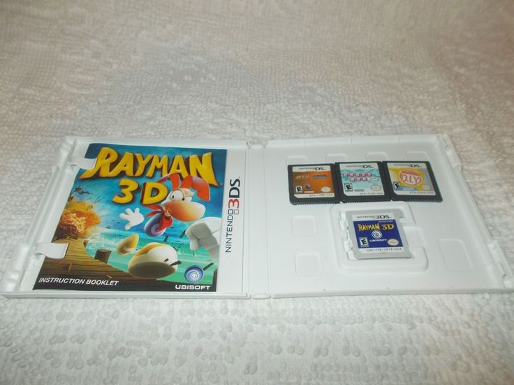 NIntendo DS 3DS lot of 4 Video Games Rayman Wario Ware DIY Crosswords ATV  #Nintendo