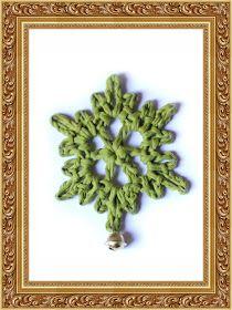 Crochet snowflake w tutorial