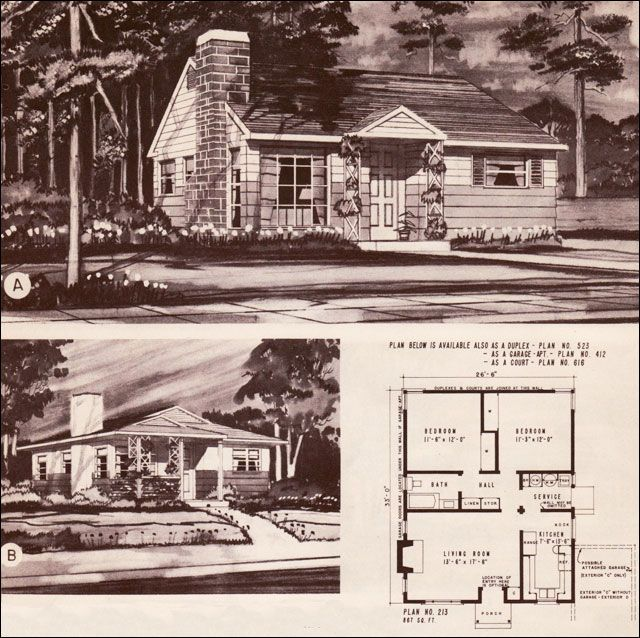 1940 s style home plans 1948 hiawatha estes plans no for 1940 house plans
