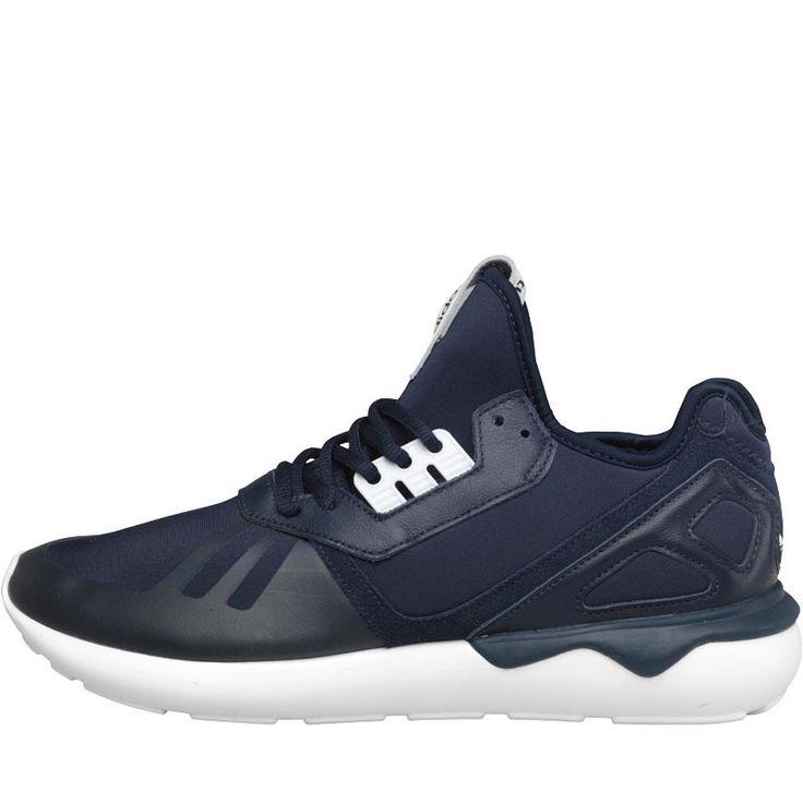 adidas Originals Mens Tubular Runner Trainers Collegiate Navy/Collegiate Navy/White