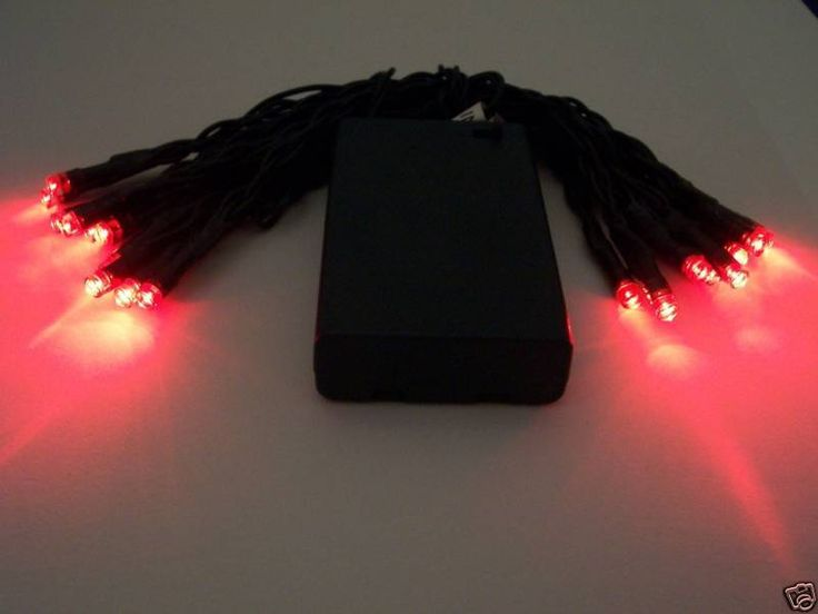 PERFECT FOR DECORATING WREATHS AND CENTERPIECES!!   2 STRINGS - RED LED battery powered Christmas lights #ChristmasHolidayParty
