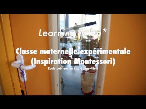 Reportage dans une classe expérimentale d'une école maternelle publique située en Zone d'Education Prioritaire (Zep) à Gennevilliers. Inspiration Montessori.