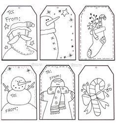etiquetas navideas de regalo para imprimir gratis