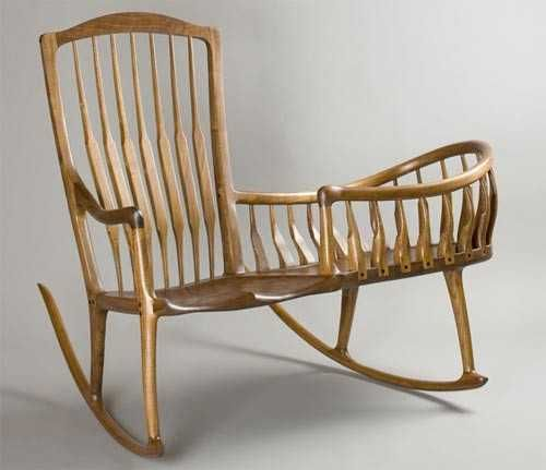 rocking chair with baby bed