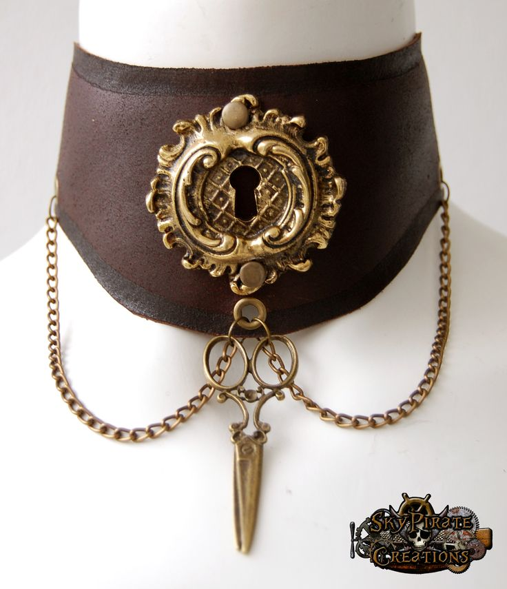 creating a steampunk choker | Steampunk Leather Neck Collar