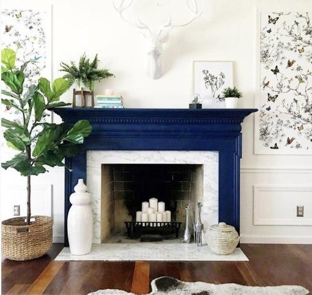 Napoleonic Blue In 2020 Painted Fireplace Mantels Fireplace