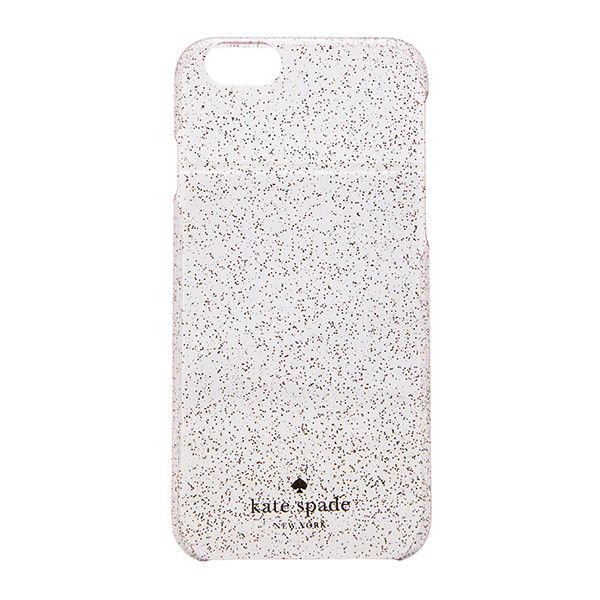 kate spade new york Glitter iPhone 6 Case Accessories ($40) ❤ liked on Polyvore featuring accessories, tech accessories, phone cases, phone and kate spade