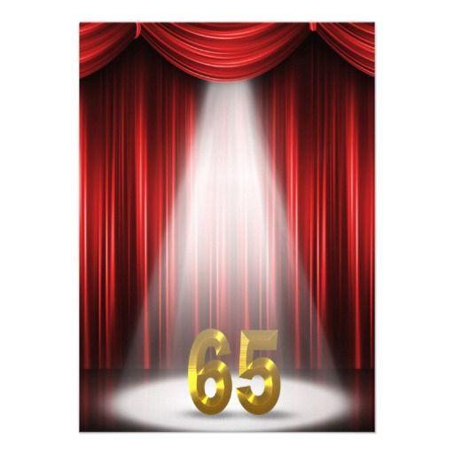 65th Birthday Party Custom Announcements 65th Birthday