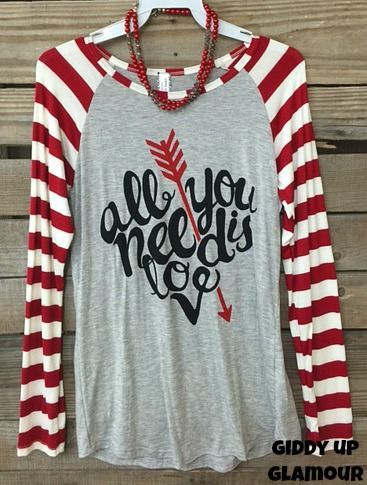 VALENTINE'S DAY APPAREL HAS HIT GIDDY UP GLAMOUR - Visit www.gugonline.com to see all of the new arrivals - $26.95