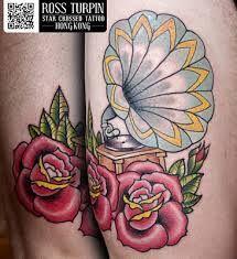 record player tattoo - Google Search