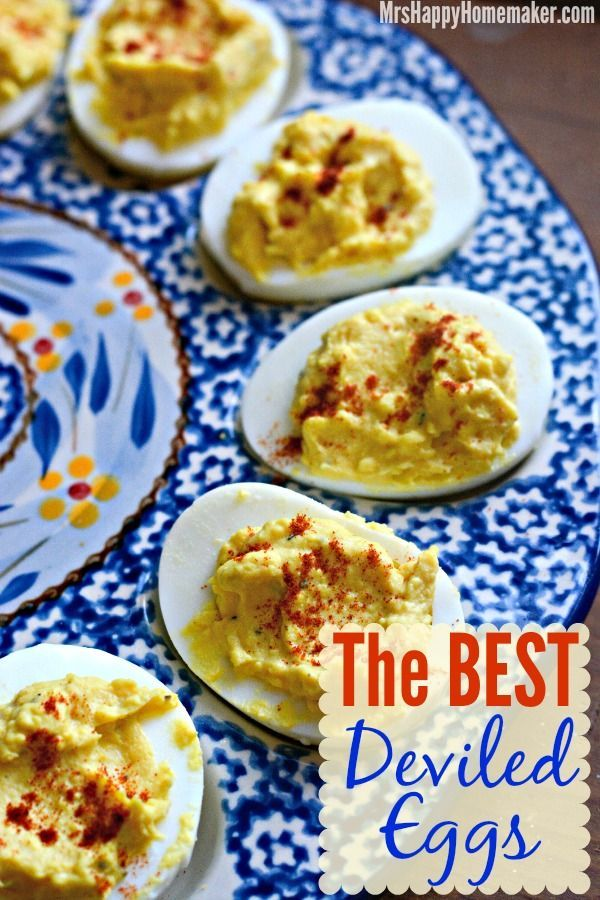 The BEST EVER Deviled Eggs – Seriously!! My family will not eat any other deviled eggs other than mine, even my child who hates eggs love this recipe! | MrsHappyHomemaker.com @thathousewife