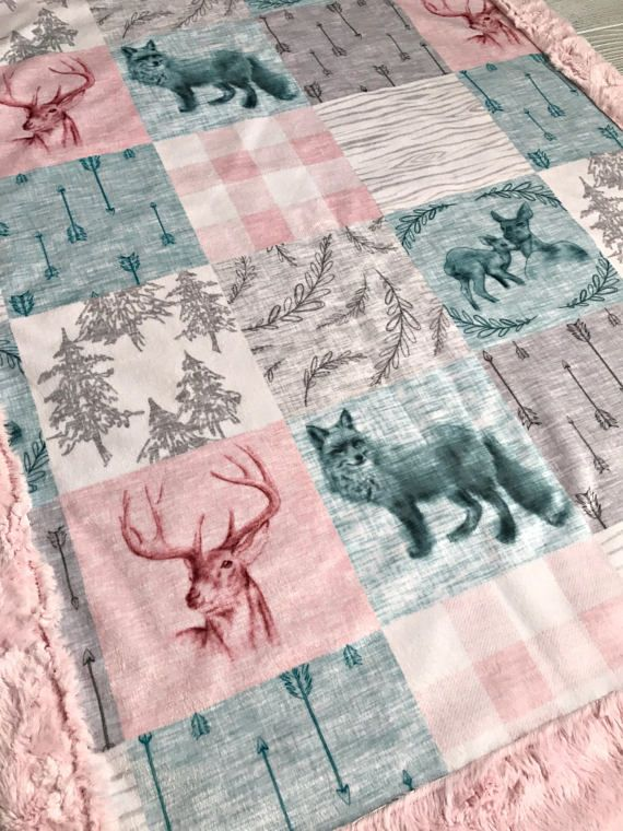 ***Options*** Please read carefully!! Boho faux quilt with pink marble backing. Minky blankets are minky on both sides. Check shop info for turnaround time. Minky Baby blanket - Measures approximately 28x38 inches. Great for strollers, car seats, swaddling etc Minky Toddler/Crib -